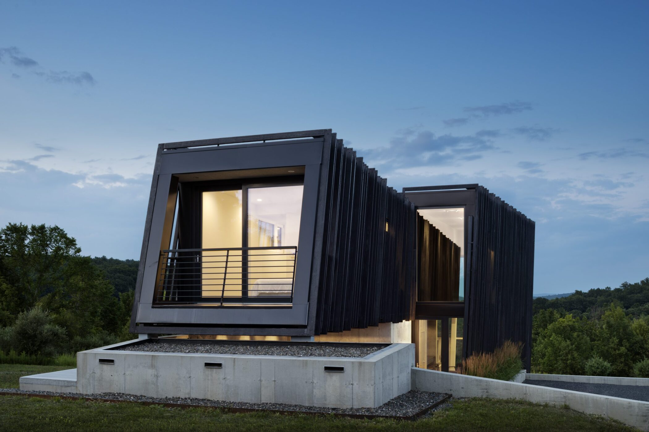 Charred Accoya siding ideal for weekend home