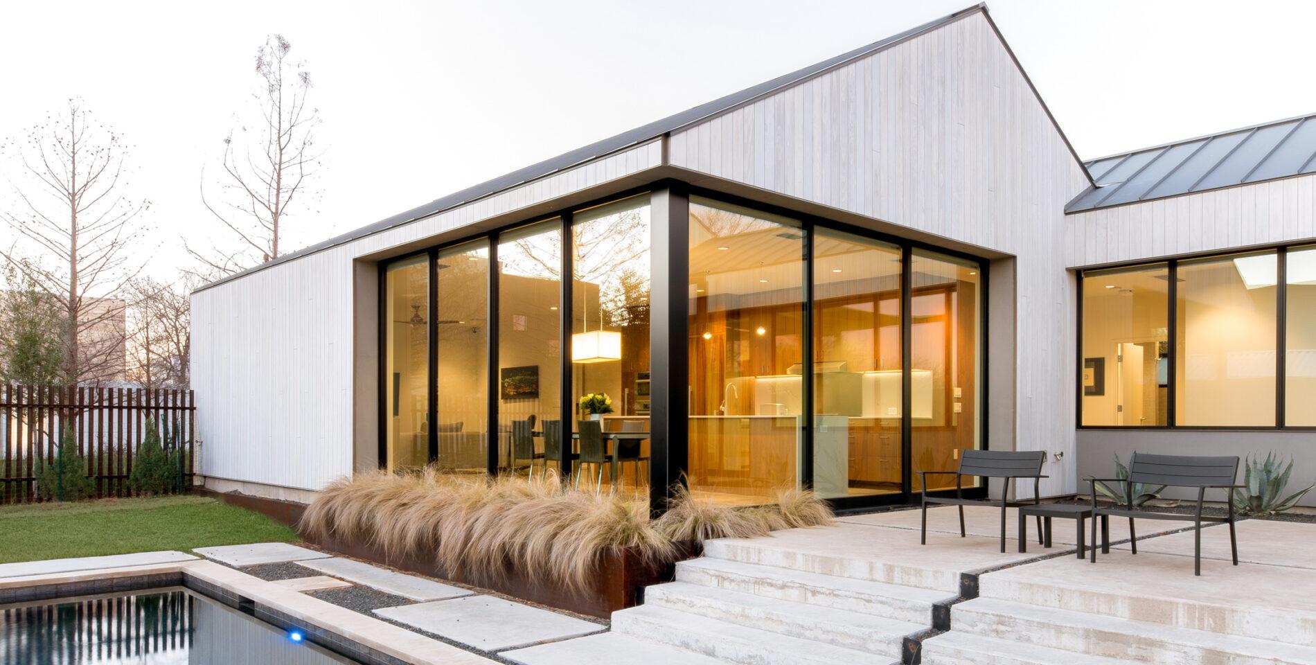 Accoya siding, private residence, Texas home