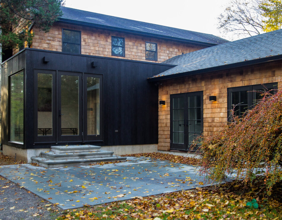 Make a statement with charred wood siding
