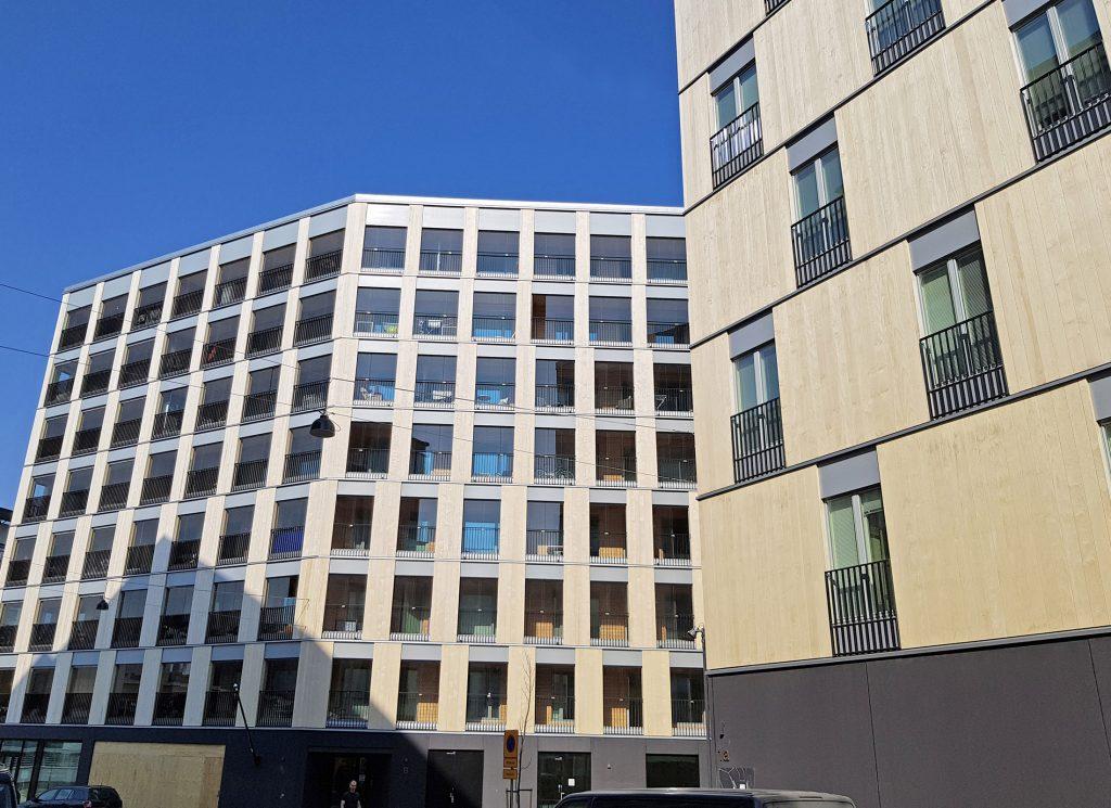 Apartment blocks use Accoya for cladding