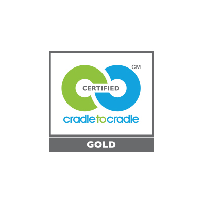 C2C gold logo with white border