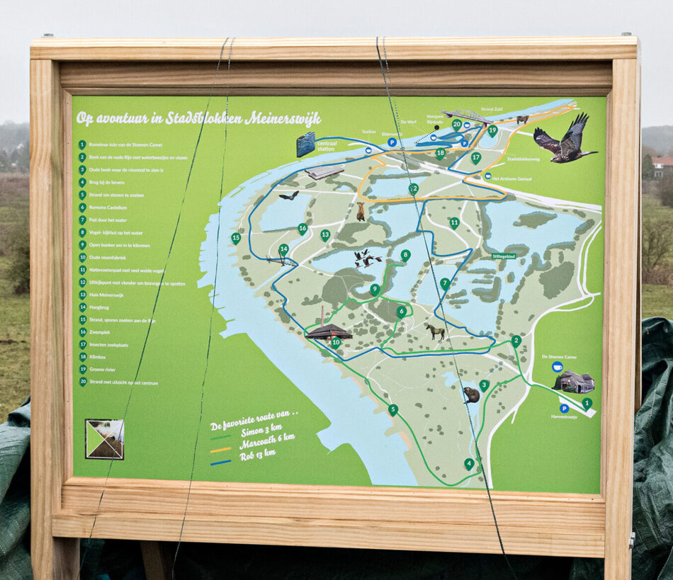 Mayor of Arnhem, Ahmed Marcouch, opens nature walk information board