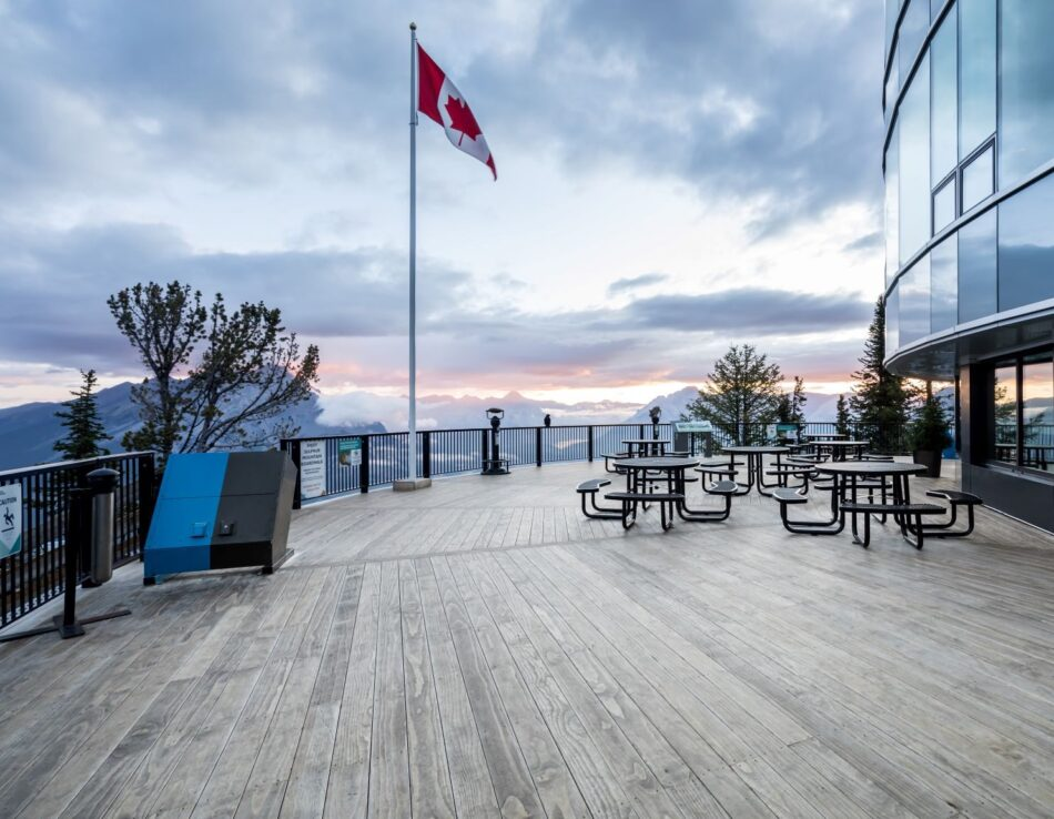 Accoya Decking chosen for project on Sulphur Mountain