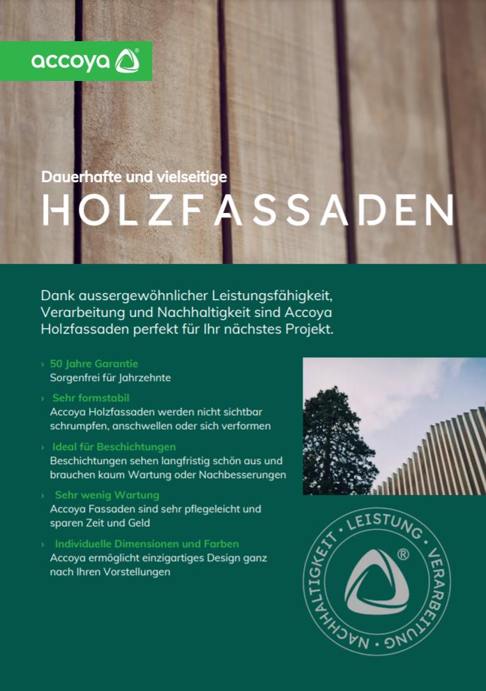 Accoya Vorteile Broschüre - Holzfassaden